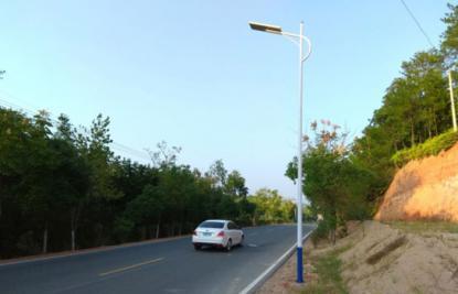 吉水县一体化太阳能路灯安装工程_智慧路灯案例